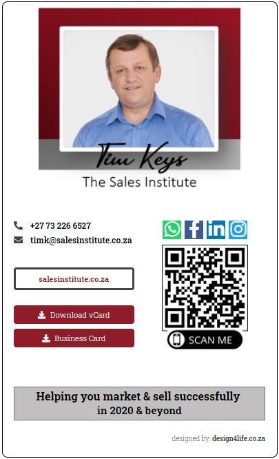 Tim Sales Institute